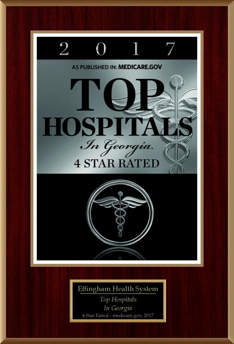 Medicare.gov Top Hospital Plaque for EHS